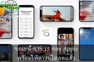 ขณะนี้ iOS 15 ของ Apple พร้อมให้ดาวน์โหลดแล้ว